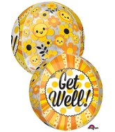 "16"" Jumbo Get Well Happiness Orbz Balloon"