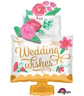 "30"" Jumbo Wedding Wishes Cake Balloon"