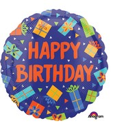 "18"" Colorful Birthday Presents Balloon"