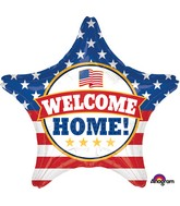 "28"" Jumbo Welcome Back Patriotic Balloon"