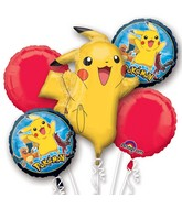 Pokemon Group Bouquet of Balloons