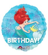 "18"" Balloon Ariel Dream Big Happy Birthday"