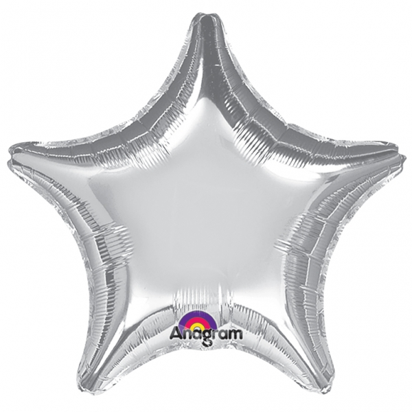"32"" Large Balloon Silver Star"