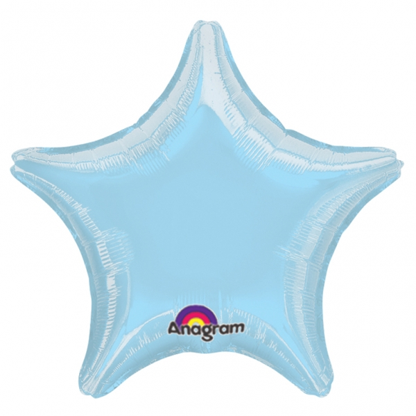 "32"" Large Balloon Pastel Blue Star"