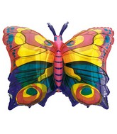 "27"" See-Thru Jewel Butterfly Balloon Packaged"