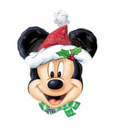"27"" SuperShape MICKEY Christmas Balloon Packaged"