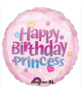 "18"" Happy Birthday Princess Mylar Balloons"