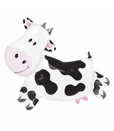 "30"" SuperShape Cow Balloon Packaged"