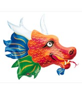 "33"" SuperShape Chinatown Dragon Balloon Packaged"
