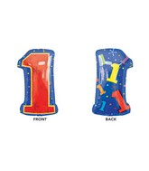 "21"" Junior Shape 1 Multi-Color Balloon Packaged"