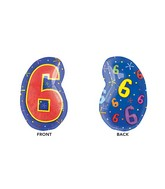"21"" Junior Shape 6 Multi-Color Balloon"