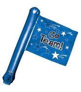 "25"" Airfill Only U-Inflate Go Team Blue Rally Flag"