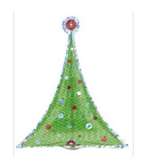 Holographic Mini Shape Christmas Tree Balloon