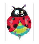 Airfill Only Mini Shape Graphic Ladybug Balloon