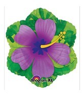 "18"" Purple Hibiscus Shape Balloon"