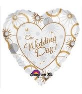 "18"" Our Wedding Day  Mylar Balloon"