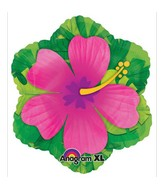 "20"" X19"" Pink Hibiscus Shape Balloon"
