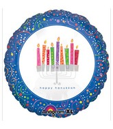 "18"" Playful Menorah Balloon"
