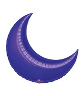 "17"" Airfill Only Mini Purple Crescent Balloon"