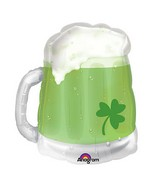 "23"" See-Thru SuperShape St. Patty&#39s Green Beer Mug Balloon"