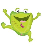 "30"" Foil Large Leaping Frog Balloon"