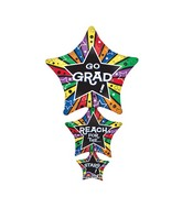 "42"" SuperShape Grad Star Stacker Balloon Packaged"