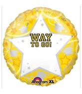 18'' Personalized Way To Go Grad Yellow