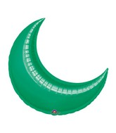"17"" Airfill Only Mini Green Crescent Balloon"