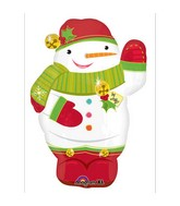 "21"" Junior Shape Jolly Snowman Balloon Packaged"