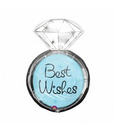 "27"" Best Wishes Wedding Ring SuperShape"