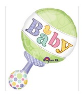 "31"" Tiny Bundle Rattle Mylar Balloon"