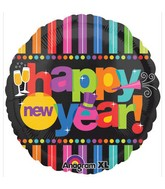 "18"" Bright New Year Balloon Packaged"