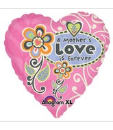 "18"" A Mother&#39s Love is Forever Foil Balloon"