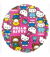 "18"" Hello Kitty Characters Mylar Balloon"