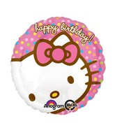 "18"" Hello Kitty Happy Birthday Face"