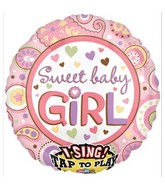 "28"" Sweet Baby Girl Jumbo Sing-A-Tune"