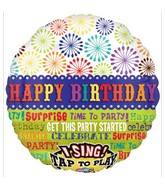 "28"" Get This Party Started Birthday Jumbo Sing-A-Tune"