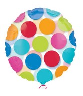 "18"" See-Thru Cabana Dots Balloon Packaged"