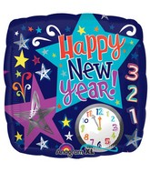 "18"" Count Down New Year Stars Balloon Packaged"