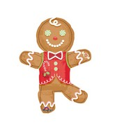 Airfill Only Mini Shape Candy Gingerbread Man Balloon
