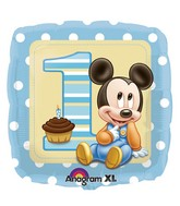 "18"" Mickey Mouse 1st Birthday Balloon"