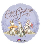 "18"" Vintage Easter Greetings Balloon"