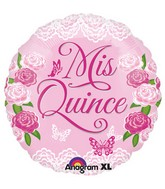 "18"" Mis Quince Swirls Balloon"