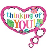 "26"" SuperShape Colorful Thinking of You Balloon Packaged"