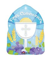 "18"" Blessed 1st Communion Blue SuperShape"