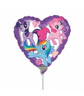 "9"" My Little Pony Purple Heart Balloon"