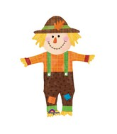 "38"" SuperShape Happy Scarecrow Balloon Packaged"
