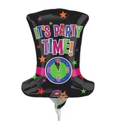 Airfill Only Mini Shape New Years Top Hat Balloon