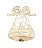 "27"" Gold Elegant 50th Anniversary Bell"