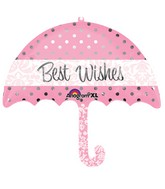 "30"" Best Wishes Umbrella SuperShape"